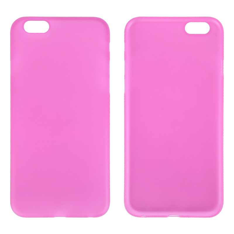 Newest PC Frosted Back Cover Ultra Thin Shell Case for 5.5 Inch iPhone 6 Plus- Rose Red