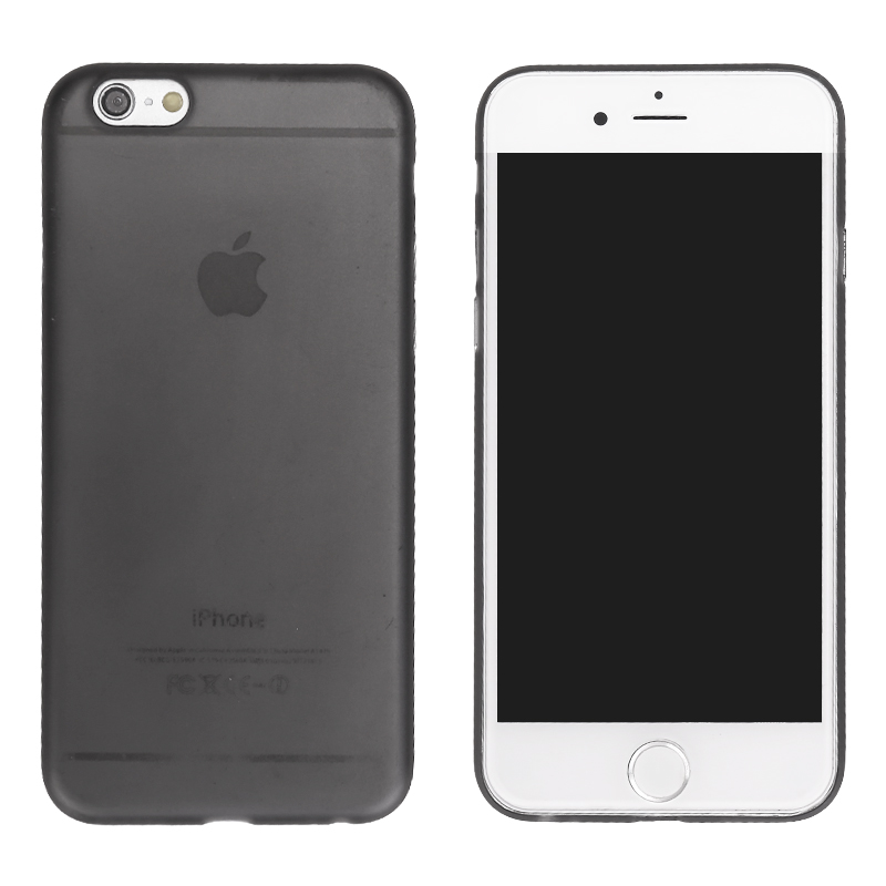 Newest PC Frosted Back Cover Ultra Thin Shell Case for 5.5 Inch iPhone 6 Plus- Black
