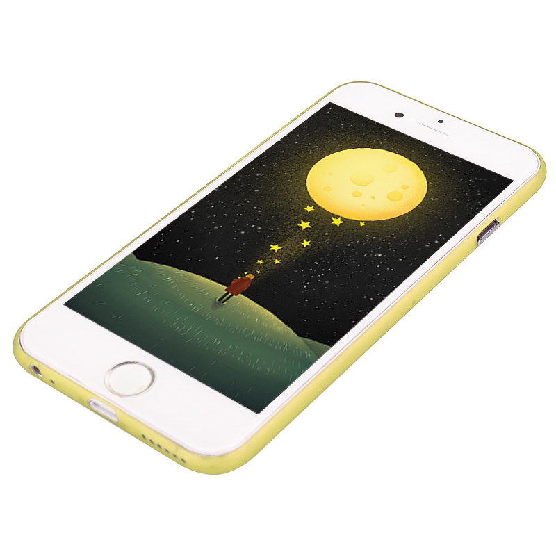 Newest PC Frosted Back Cover Ultra Thin Shell Case for 5.5 Inch iPhone 6 Plus- Yellow