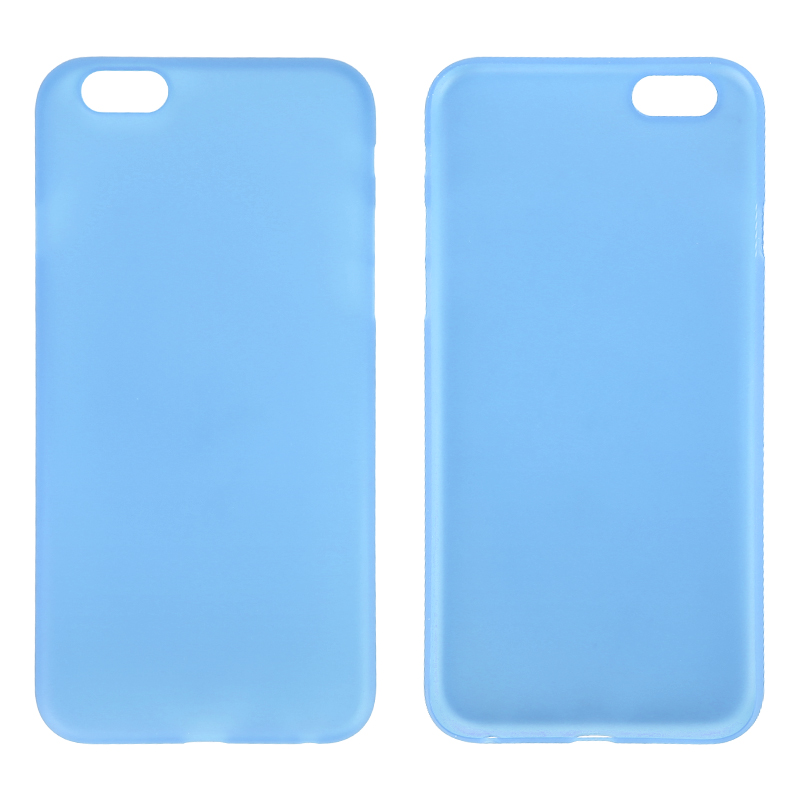 Newest PC Frosted Back Cover Ultra Thin Shell Case for 5.5 Inch iPhone 6 Plus- Blue