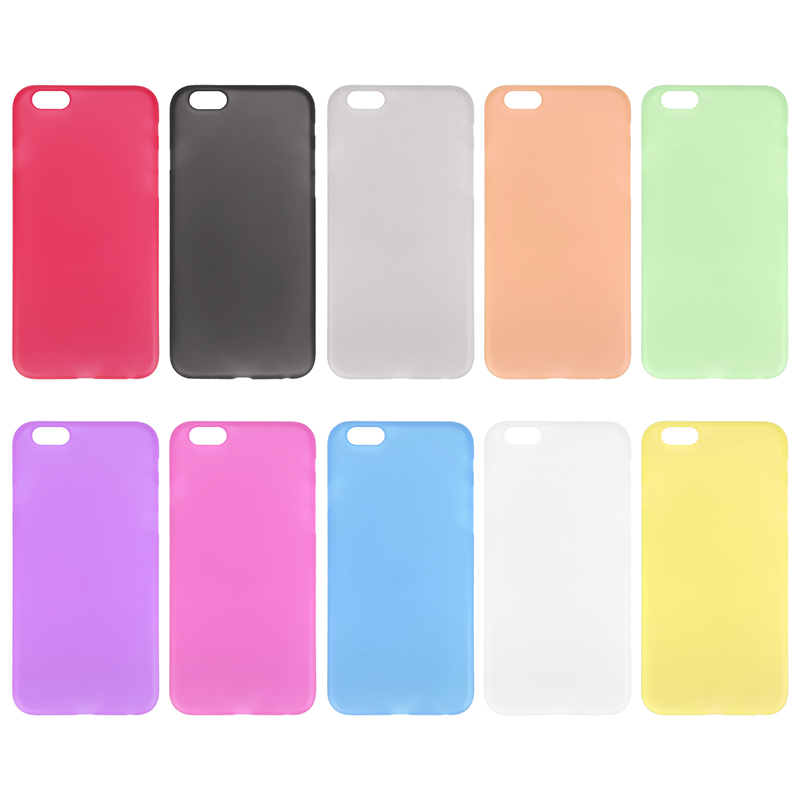 Newest PC Frosted Back Cover Ultra Thin Shell Case for 5.5 Inch iPhone 6 Plus- Transparent