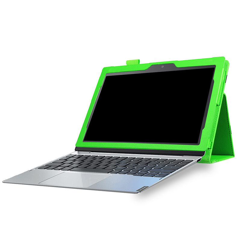Protective PU Leather Folio Stand Cover Case for Lenovo MIIX 320 10.1 Inch - Green
