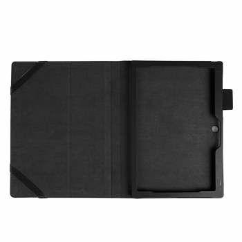 Protective PU Leather Folio Stand Cover Case for Lenovo MIIX 320 10.1 Inch - Black
