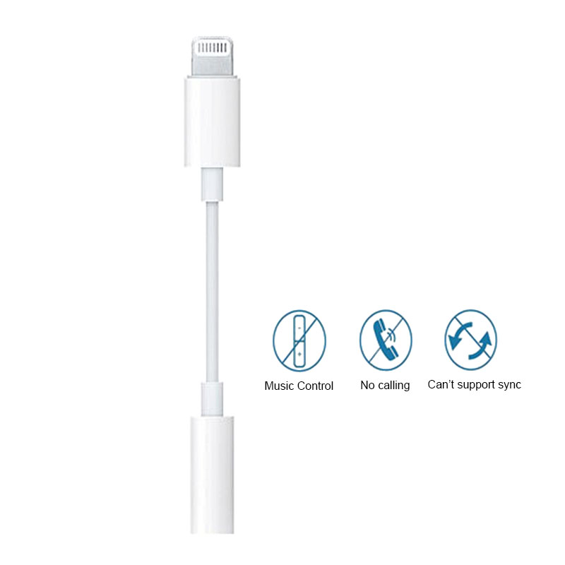 Lightning to 3.5mm Female Headphone Jack Adapter for iPhone 7/7 Plus Compatible with Latest iOS 12