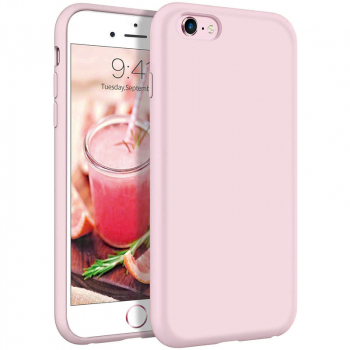 Super Soft and Slim Liquid Silicone Gel Shockproof Phone Cover Back Case for iPhone 6 plus iPhone 6s plus - Pink
