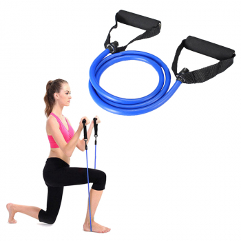 15 Pounds Sports Bands Gym Exercise Tubes Stretch String for Yoga Workout Band - Blue
