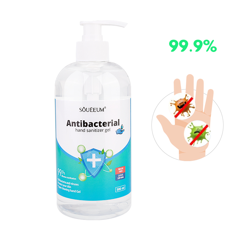 500ml Antibacterial Hand Sanitizer Gel 75 percent Alcohol Wash Free Hand Cleaner