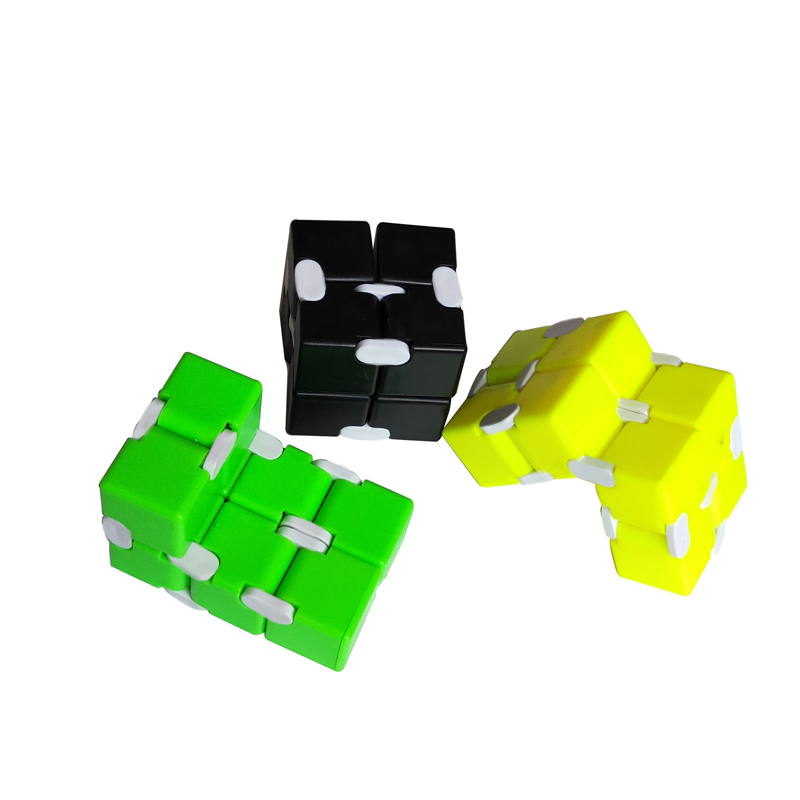 Fidget Magic Blocks Infinity Cube Puzzle Flip Cube Anti Press Hand Toy - Green