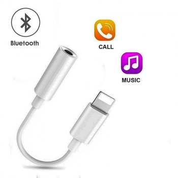 8 Pin to 3.5mm Headphone Bluetooth Jack Audio Adapter 3.5mm Jack for iPhone X XS Max