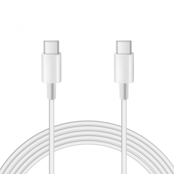 1M Soft USB C to USB C Charging Cable - White