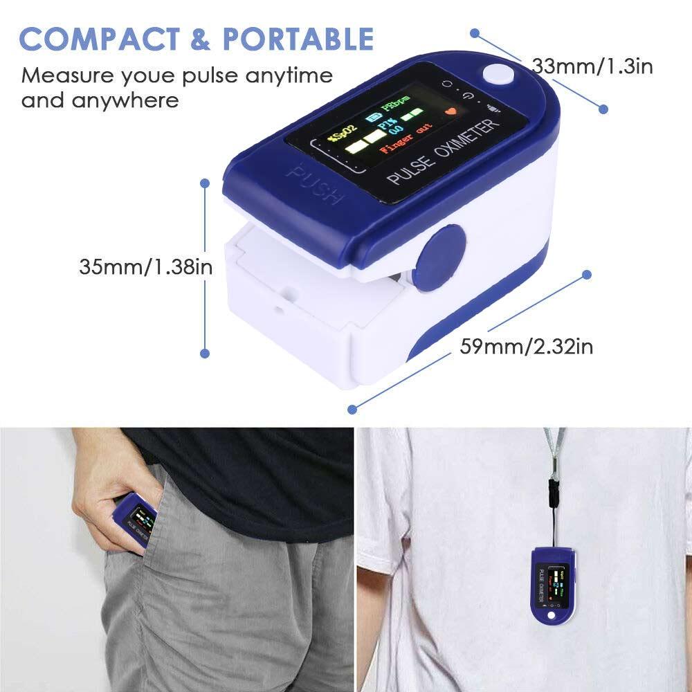 Four-color Display Fingertip Pulse Oximeter Oxygen Saturation Meter Blood Monitor Finger Oximeter