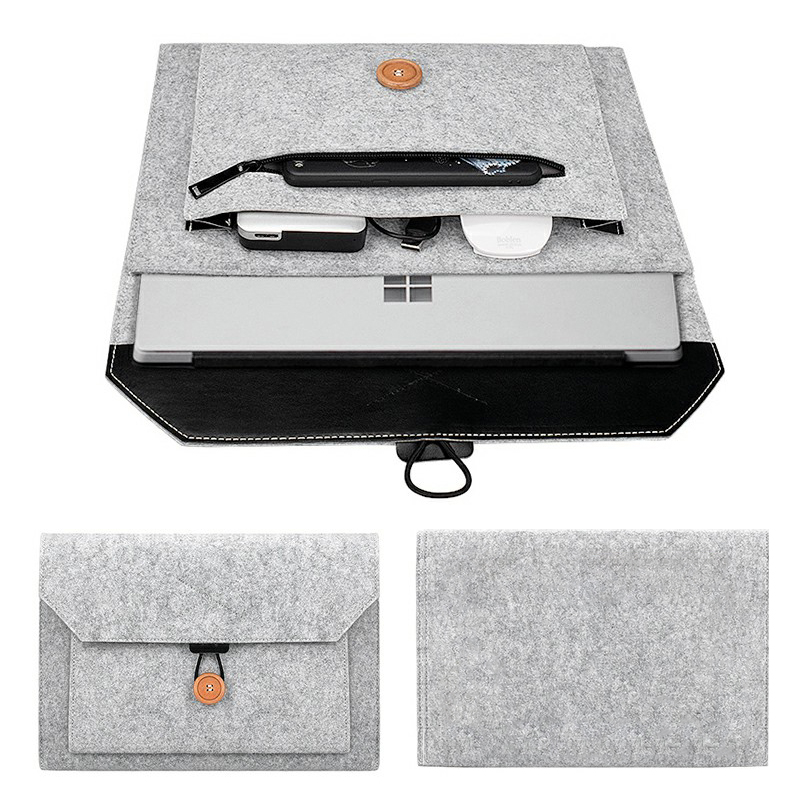 13 Inch MacBook Pro/iPad Sleeve Felt Laptop Protective Case - Grey