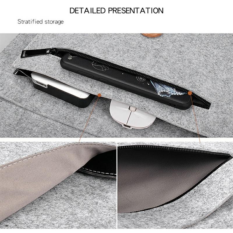 12 Inch MacBook Pro/iPad Sleeve Felt Laptop Protective Case - Grey