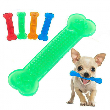 Chew Toys Bone Shape Toy for Aggressive Chewers Indestructible - Green