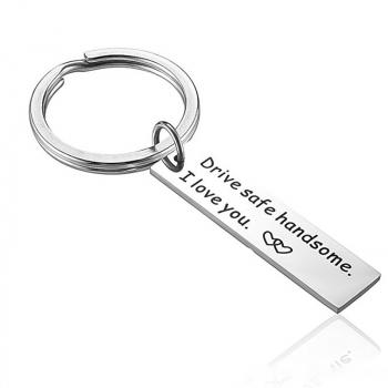 Drive Safe Handsome I Love You Trucker Keyring Keychain Gift for Dad Husband Boys