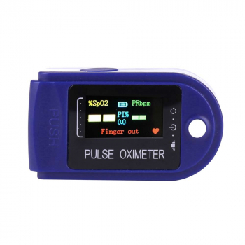 Four-color Display Fingertip Pulse Oximeter Oxygen Saturation Meter Blood Monitor Finger Oximeter
