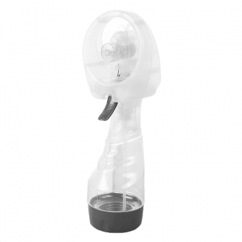 Portable Mist Spray Fan Hand Held Battery Power with Air Water Bottle Misting Cooling - White