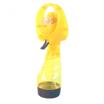 Portable Mist Spray Fan Hand Held Battery Power with Air Water Bottle Misting Cooling - Yellow