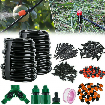 30M Micro Drip Irrigation Watering Automatic Garden Plant Greenhouse System