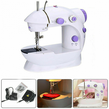 Mini Eletric Portable Sewing Machine Stitch Light Travel Craft Rechargeable