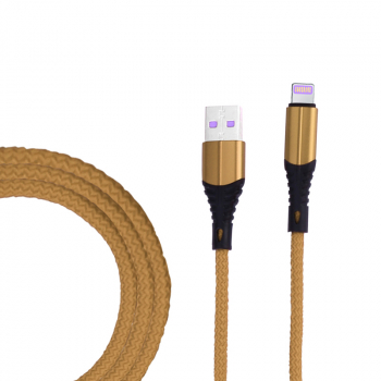 1m Braided 8pin Charge Cable Durable iPhone Charger Cable - Gold