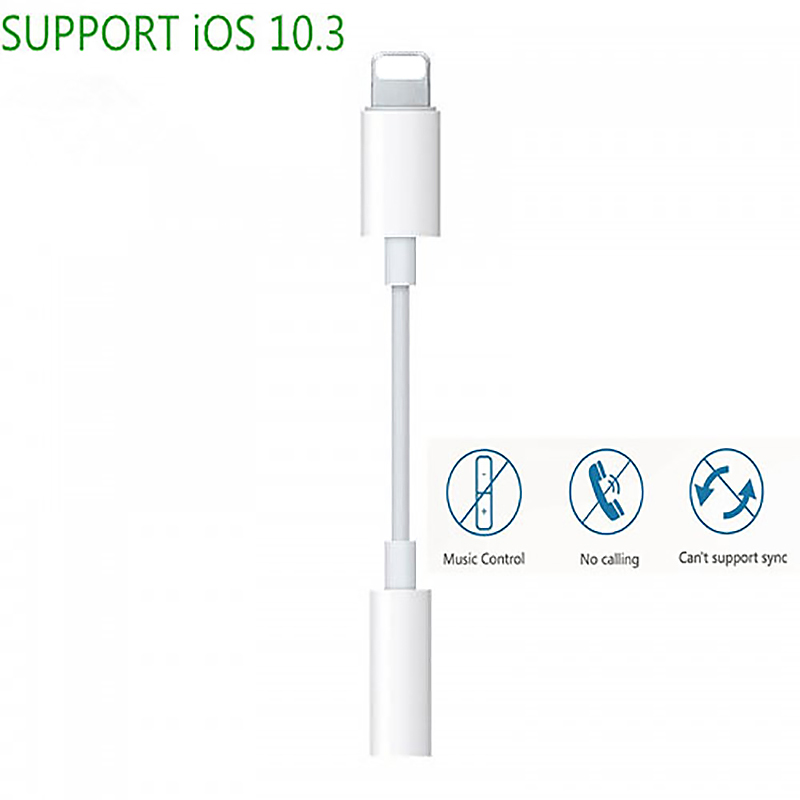 8pin to 3.5mm Female Headphone Jack Adapter for iPhone Compatible with Latest iOS 13
