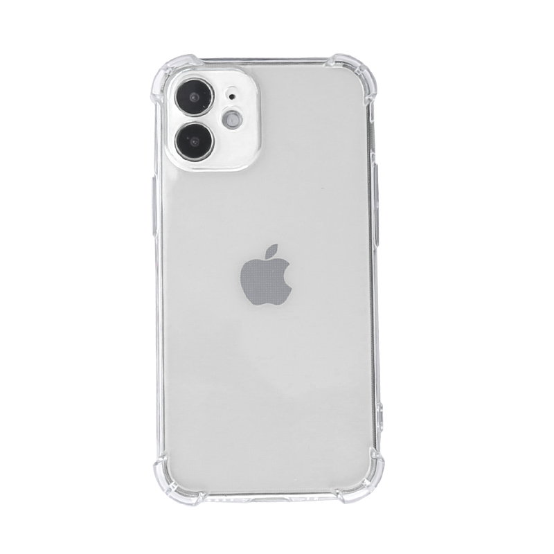 TPU Rubber Soft Skin Silicone Protective Case with Bumper Edge for iPhone 12 - Clear