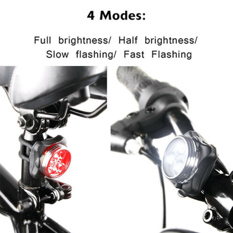 Super Bright COB USB Rechargeable Bicycle Front Lights and Warn Tail Light Set Waterproof IPX4