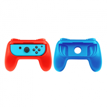 2 pcs Controller Grip Handle Stands for Nintendo Switch Joy-Con - Red + Blue