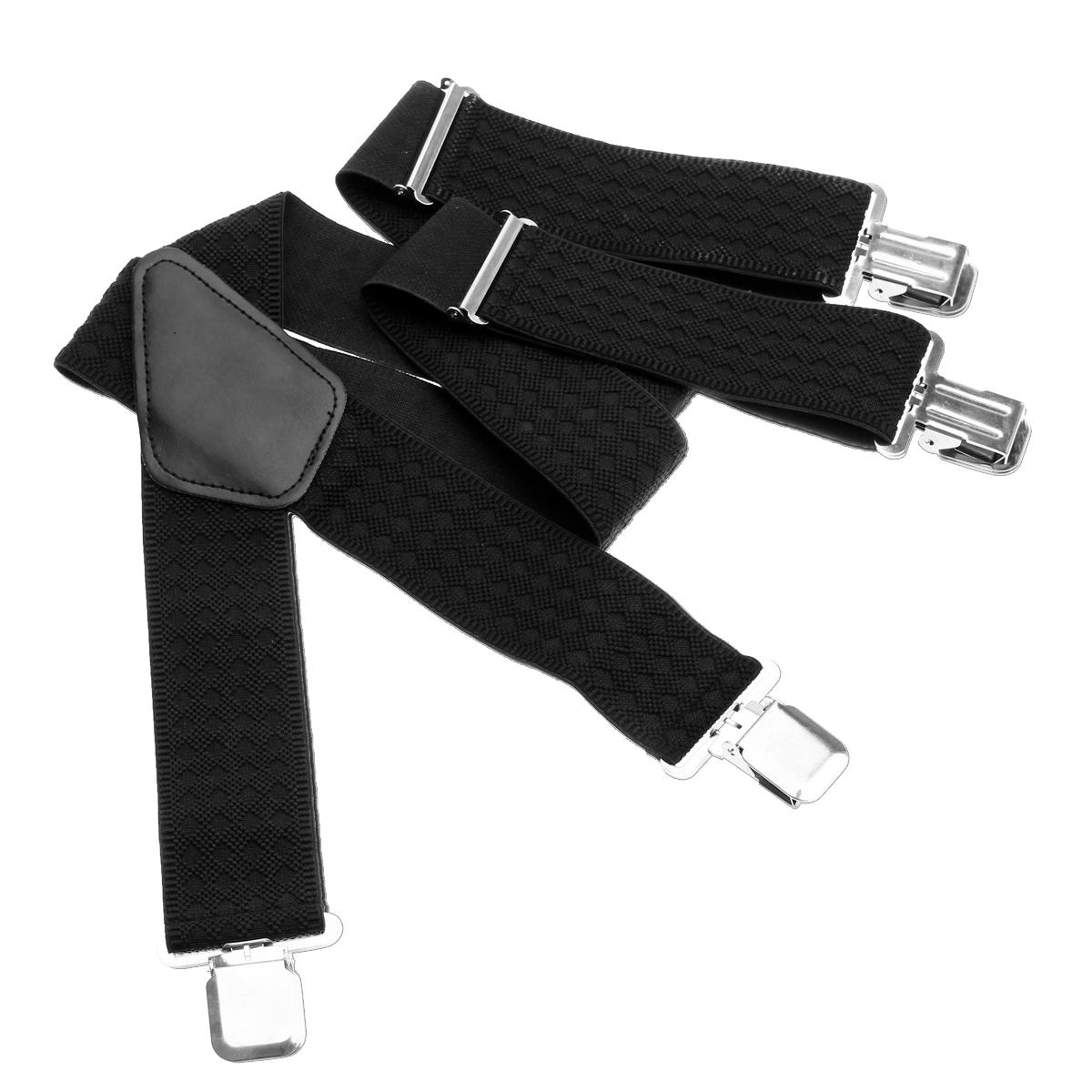 50MM Adjustable Heavy Duty Elastic Mens Braces Trouser Suspenders - Plaid