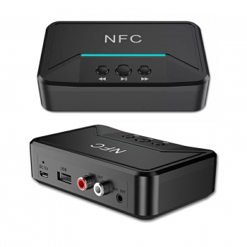 NFC Bluetooth Receiver 35mm RCA Smart Stereo Audio Wireless Adapter for Car Kit Speaker