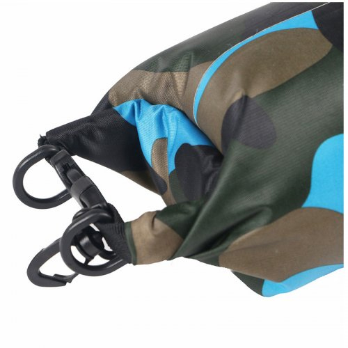 2L Camouflage Waterproof Backpack Dry Bag Pouch for Sports Boating Camping Hiking - Green