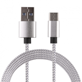1M High Quality Braided USB 3.0 Type C Charging Cable Cord Data Line - Silver