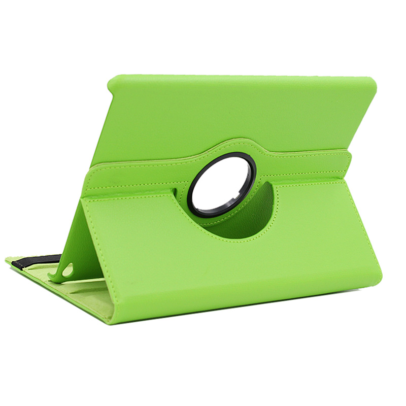 360 Rotation PU Leather Case Cover for iPad Air 2- Green