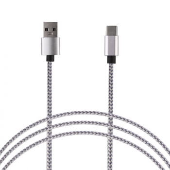 2M Braided 8pin Cable Slim Woven Data Sync Charge Charging Cord for iPhone iPad - Silver