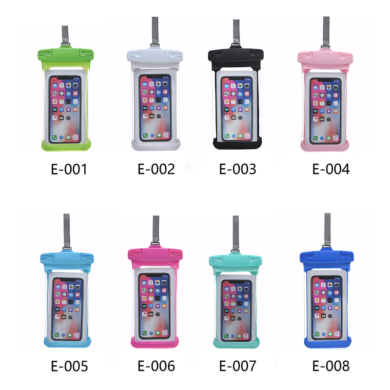 Universal 7.2 inch Waterproof Three-dimensional E Type Phone Pouch Glowing Bag - White
