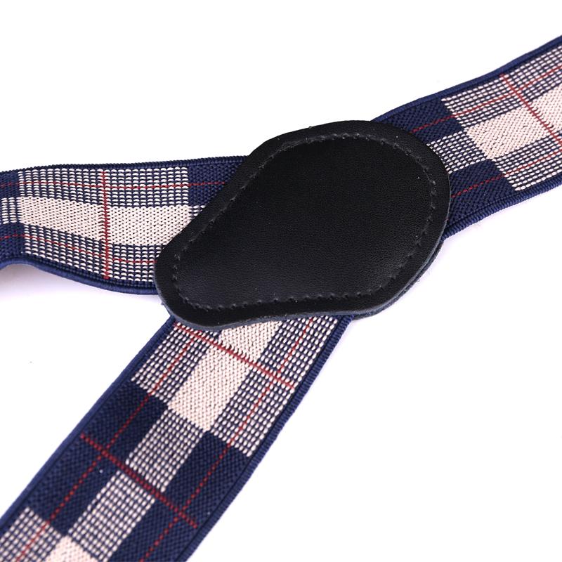 Business Mens Trousers Refined Suspenders Non-slip Shoulder Straps Gift - Retro Plaid