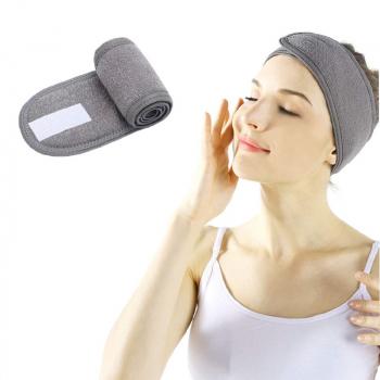 Spa Makeup Yoga Sports Headband Washing Face Hair Hood Sweat-absorbent Turban - Grey