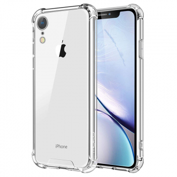 Four Corners Bumper TPU Case Clear Slim Soft Silicone Anti-Shock Back Cover for iPhone XR