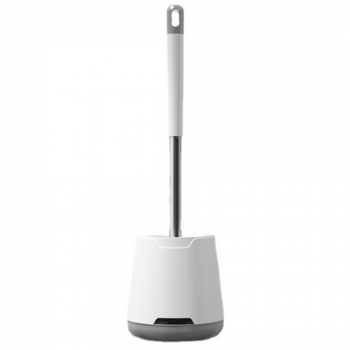 Silicone Toilet Brush with Toilet Brush Holder Creative Cleaning Brush