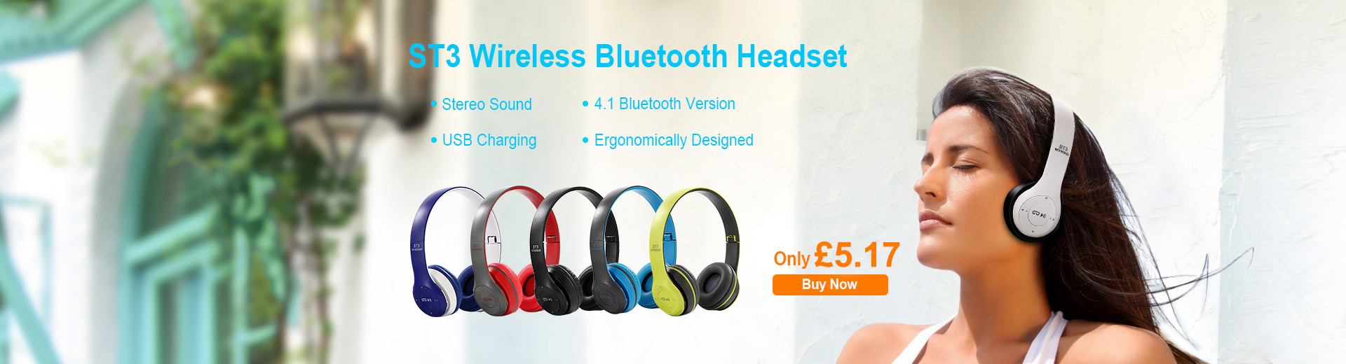 ST3 Wireless Bluetooth Headset