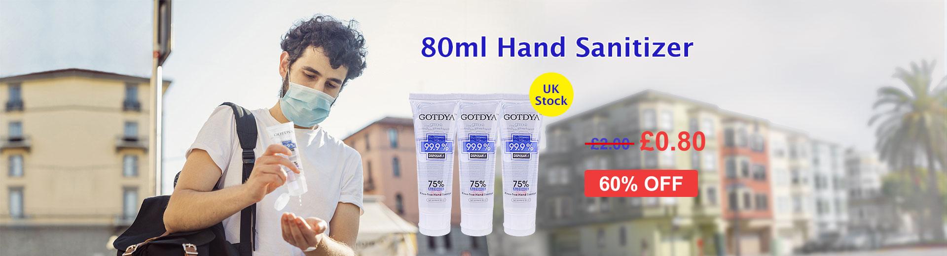 80ml Hand Sanitiser Gel