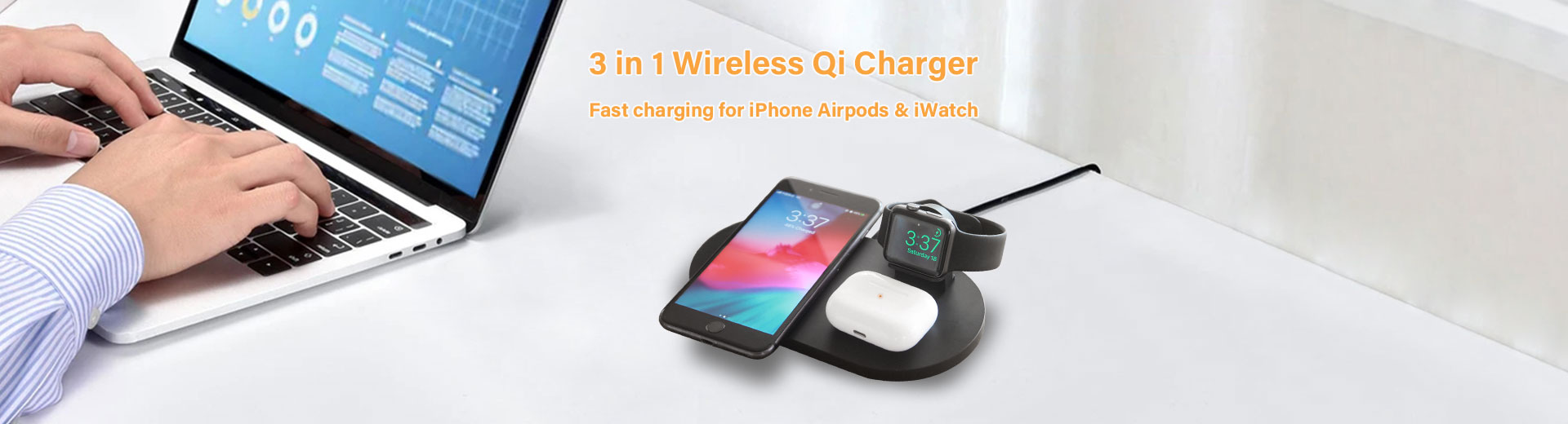 3 in 1 Wireless Qi Charger