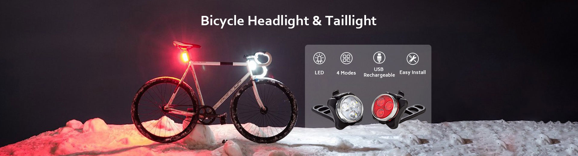 Bicycle Headlight & Taillight