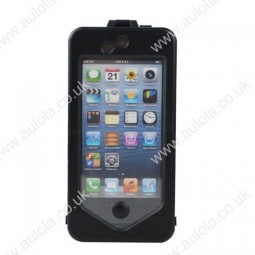 Rotatable Waterproof Bike Navigation System with Wide Angle Lens for iPhone5/5S- Black