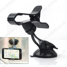 Universal Space-saving Cellphone Windshield Mount Holder with Suction Cup