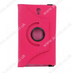 360 Rotation Case Cover for Samsung T700- Rose Red