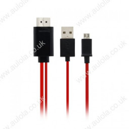 2M MHL Micro USB 5 Pin to HDMI Adaptor Cable for Samsung S2/S3/S4