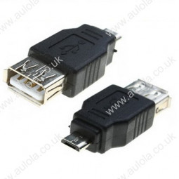 USB A Female to Micro USB 5 Pin Male OTG Adapter Converter