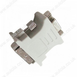 DVI(24+5) Male to VGA Female Adapter Connector White